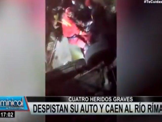 Chosica: auto cayó al Río Rímac y dejó 4 personas heridas