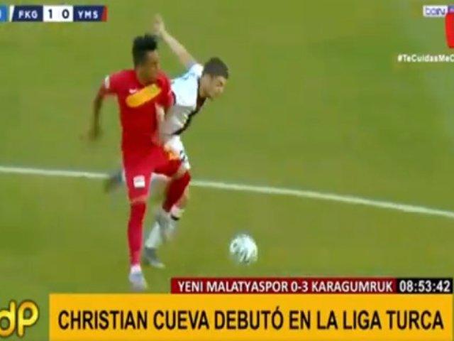 Así fue el debut de Cueva con el Malatyaspor en Turquía