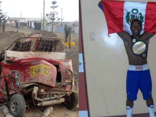Cañete: exboxeador que trabajaba en su mototaxi falleció en accidente vehicular