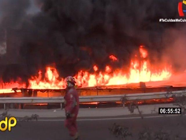 Fábrica que se incendió en El Agustino era clandestina