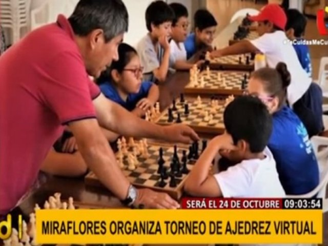Miraflores se alista para primer torneo nacional de ajedrez virtual este sábado