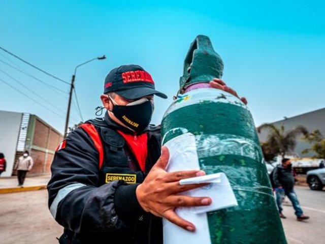 Puente Piedra: recargan gratis balones de oxígeno
