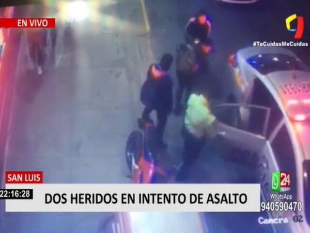 San Luis: dos jóvenes resultan heridos de bala en intento de asalto