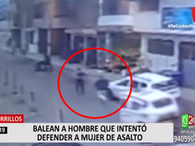 Chorrillos: balean a hombre que intentó defender a mujer de asalto