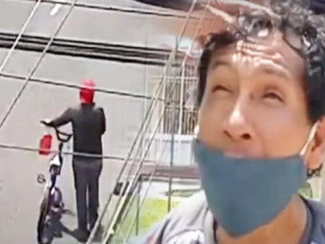 Surco: capturan a ladrón que acababa de robar una bicicleta