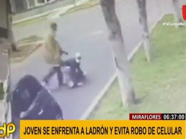 Miraflores: cámaras registraron violento intento de asalto a mujer