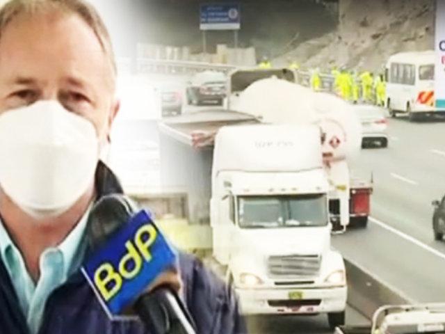 """En la Panamericana Sur vuelve el """"Pico y placa"""" para camiones"""