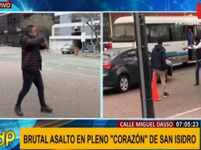 San Isidro: barajan hipótesis de 'marcas' tras violento intento de asalto