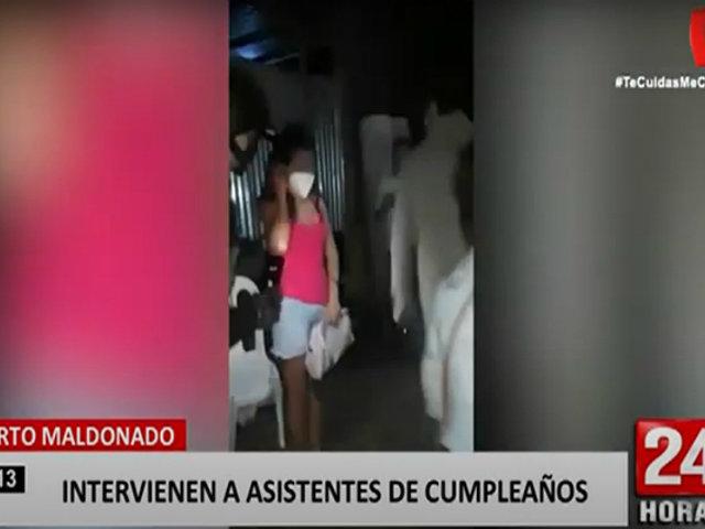 Puerto Maldonado: escándalo en fiesta de cumpleaños llamó la atención de la Policía