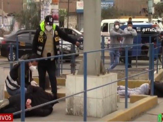 Los Olivos: Policía frustró asalto a grifo y capturó a tres delincuentes