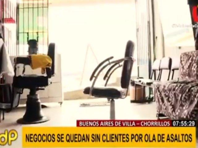 Chorrillos: negocios desfallecen ante ola de delincuencia en Buenos Aires de Villa