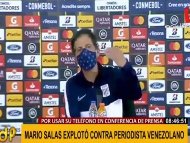 Salas perdió los papeles con periodista venezolano tras derrota de Alianza