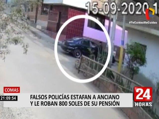 Comas: falsos policías estafaron a anciano para quitarle su pensión