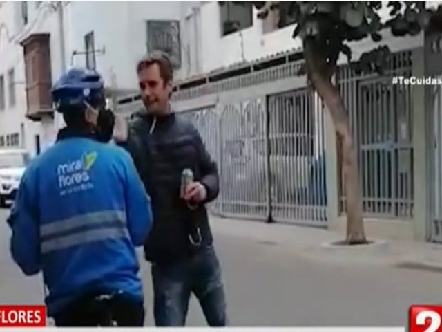 Miraflores: hombre sin mascarilla agredió a sereno