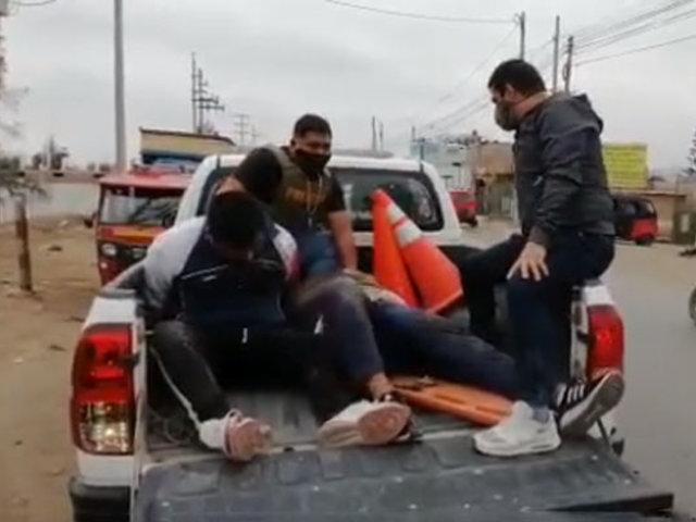 Cañete: dos heridos deja feroz balacera entre policías y presuntos delincuentes