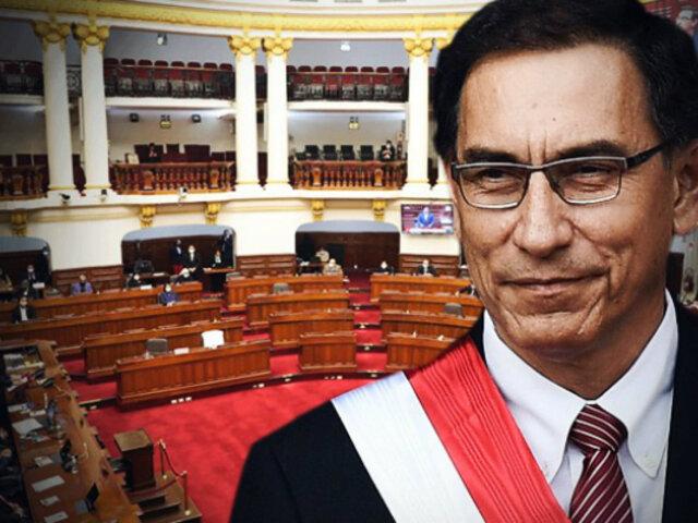 Congreso rechaza moción de censura contra el presidente Martín Vizcarra