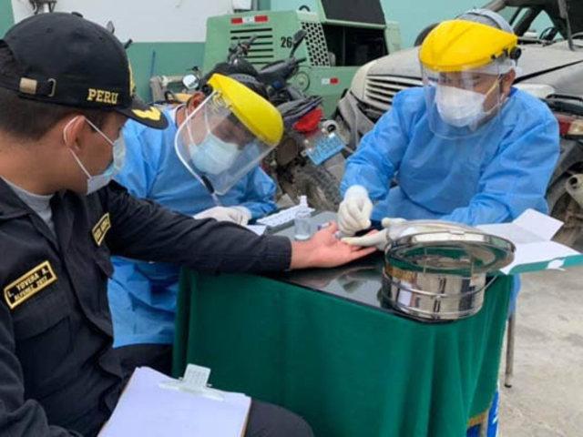 Covid-19: aplican pruebas rápidas a más de 130 policías en Casma