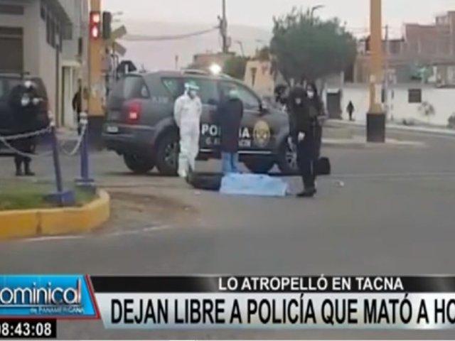 Tacna: Policía que atropelló a hombre quedó en libertad