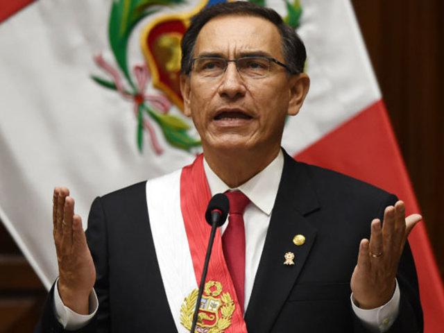 """""""No tenemos tiempo para perder en discusiones estériles entre políticos"""", afirma presidente Vizcarra"""