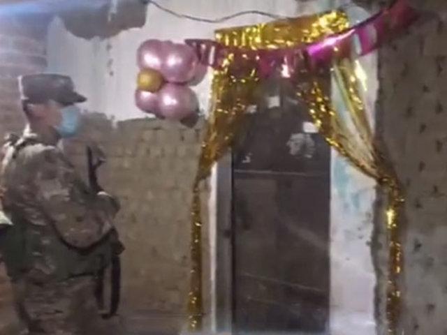 La Libertad: intervienen a siete personas que participaban en un animado baby shower