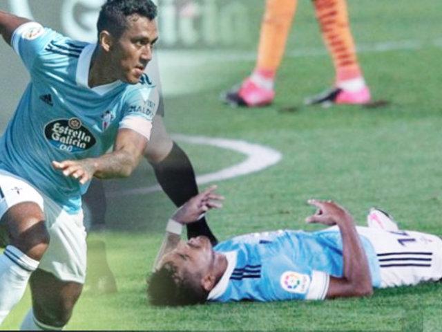 Renato Tapia sufrió lesión en triunfo del Celta ante Valencia
