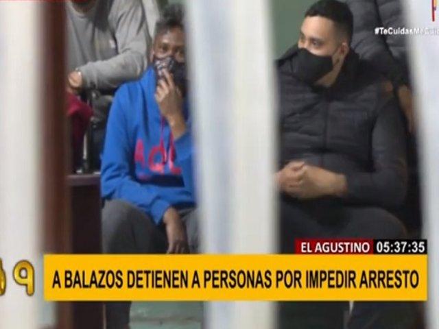 A balazos detienen a personas que intentaron de impedir arresto en El Agustino