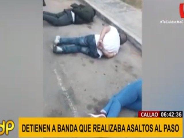 Callao: cae presunta banda que cometía robos al paso