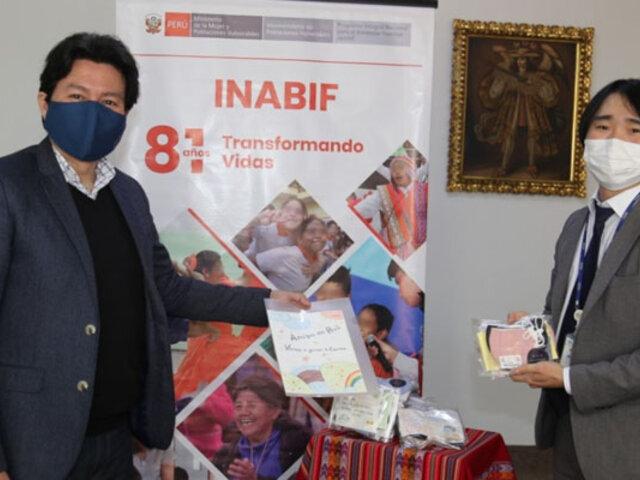 Covid-19: agencia coreana dona mascarillas a niños con discapacidad del Inabif