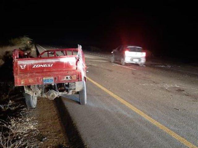 Piura: choque entre motofurgón y motocicleta dejó dos víctimas mortales