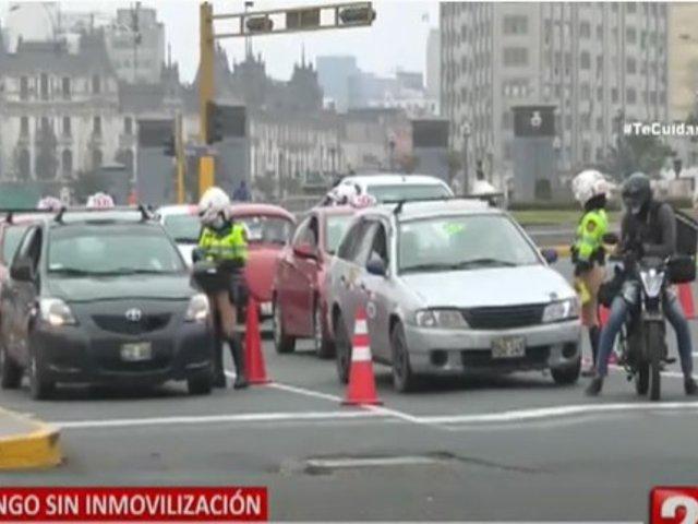 Al menos 58 conductores fueron multados con S/6540 por usar su vehículo particular en el primer domingo sin inmovilización