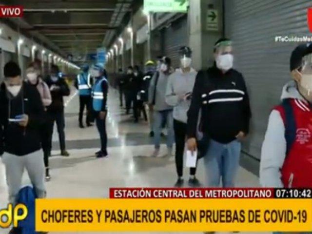 Essalud realiza pruebas COVID-19 en Estación Central del Metropolitano