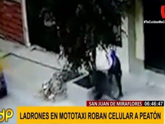 Cámaras captaron asalto a joven en SJM