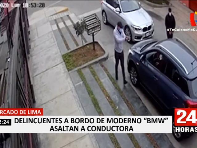 Delincuentes utilizan auto de alta gama para asaltar en Surco y Cercado de Lima