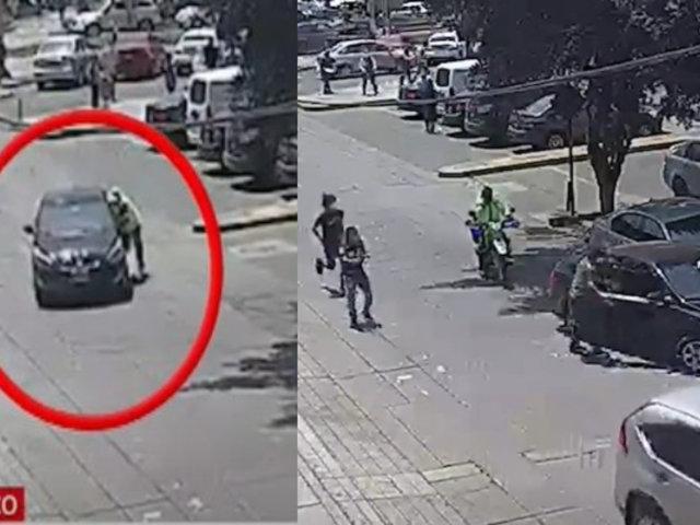 Agentes de seguridad privados y un sereno ayudan a cambista para evitar el robo de su dinero