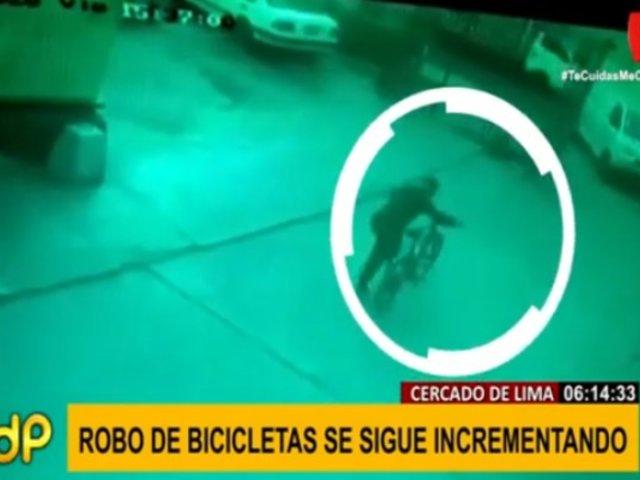 Cercado de Lima: cae banda que robaba bicicletas en centros comerciales