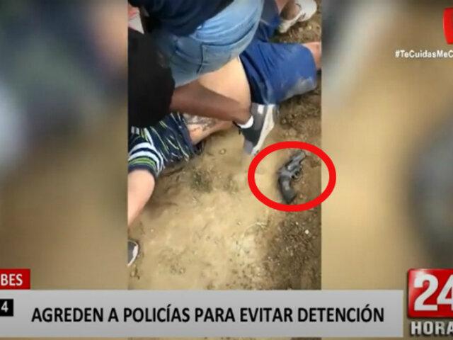 Tumbes: turba intenta evitar que la Policía detenga a un sujeto armado
