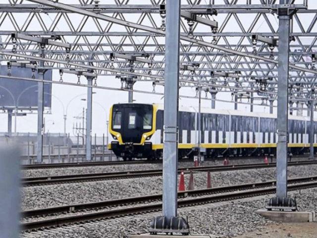 Metro de Lima: Línea 2 inició la prueba de trenes en modo automático