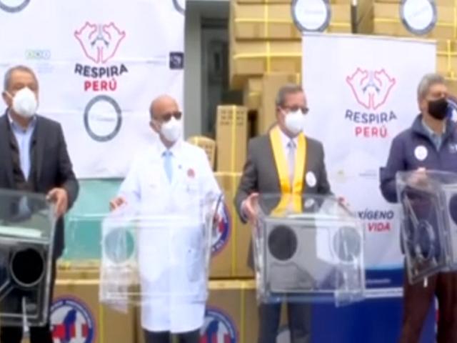 """Campaña """"Respira Perú"""" donó 2 mil cajas de aerosolización a profesionales de la salud"""