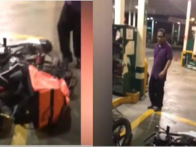 La Molina: Repartidor denuncia que fue agredido por vigilante y gerente de grifo