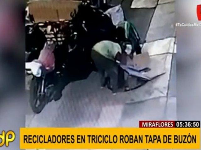 Miraflores: recicladores que robaron tapa de buzón enfrentan pena de cárcel