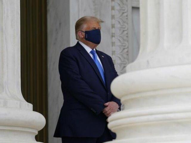Donald Trump es abucheado durante visita al Tribunal Supremo