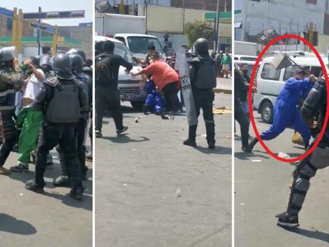 Batalla campal en La Victoria: reportan varios heridos durante operativo municipal
