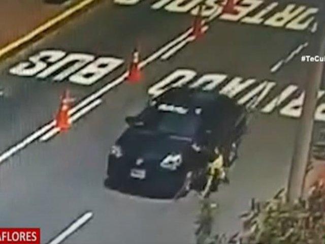 Miraflores: Taxista informal embistió y arrastró varios metros a inspector de tránsito que lo intervino