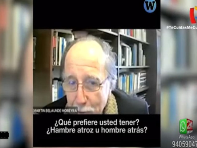 Excongresista Martín Belaúnde Moreyra tuvo expresiones de connotación sexual con alumnas