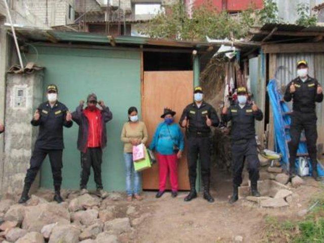 Apurímac: PNP regaló vivienda a mujer que vivía en pobreza extrema junto a sus tres hijos