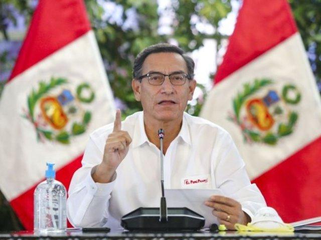 Presidente Vizcarra informa nuevas medidas sanitarias que regirán desde octubre