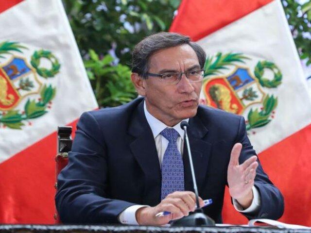 Vizcarra se reunirá con el Congreso y otras instituciones para ver tema de COVID-19 en el país