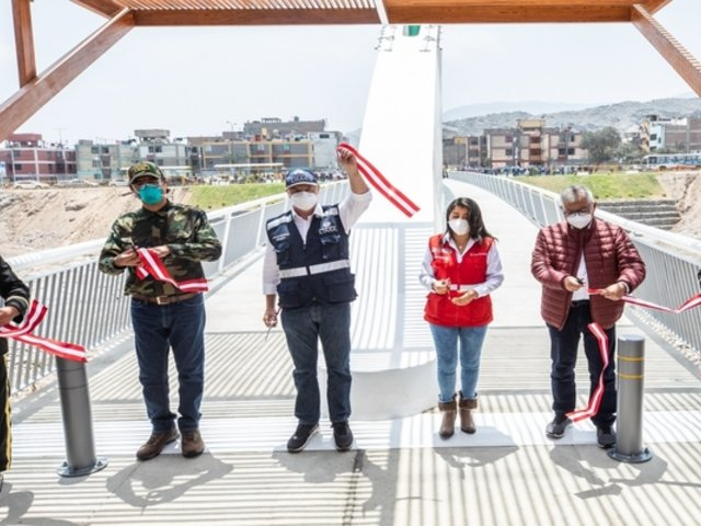 MML inauguró puente peatonal en Malecón Checa tras desplome de anterior estructura