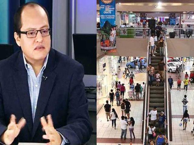 Gobierno evalúa ampliación de aforo en centros comerciales para campaña navideña