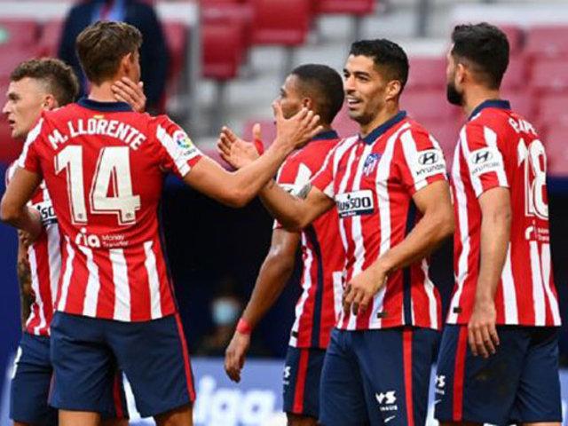 Buen debut: con doblete de Luis Suárez, Atlético de Madrid derrotó 6-1 al Granada
